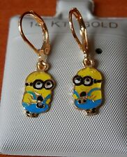 14K Gold Filled Movie Despicable Me Minions / Minion hanging Earrings / USA