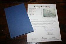 Billy Graham signed autograph book Peace With God hardcover 1984 edition JSA LOA