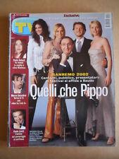 TV Sorrisi e Canzoni n°10 2002 Festival Sanremo Pippo Baudo  [G586]