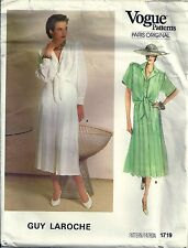 Vogue Sewing Pattern 1719 Paris Original Blouse & Skirt Guy Laroche  Size 12 UC