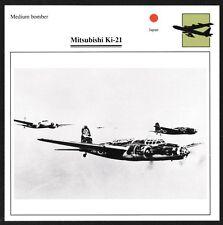 Japan Mitsubishi Ki-21 Medium Bomber Warplane Aviation Card - I Combine S/H