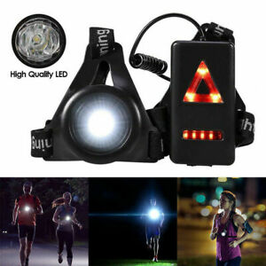 Outdoor LED Running Chest Lamp Warning Night Light Walking Torch Safety Flash