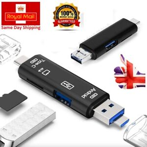Type-C to USB 3.1 OTG 5 in 1 Multi Card Reader Adapter Micro SD Card PC/Android
