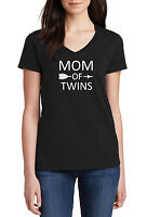 Lucky Mama T-Shirt Womens Mother Mom Funny Gift Twins