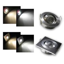 LED Recessed Spotlights 3W 12V, ceiling Light, downlight, spotlight round/square