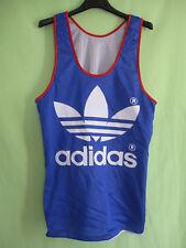 Maillot Adidas Equipe France 80'S Athlétisme running vintage jersey - S