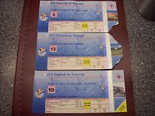 TICKET EURO 2000  4 MATCHES ROMANIA vs GERMANY,PORTUGAL,ENGLAND and ITALY
