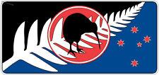 A NEW KIWI FLAG SILVER FERN STICKER AOTEAROA NEW ZEALAND FLAG STICKER