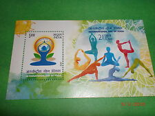 "STAMPS INDIA-MINI. SHEET-""INTERNATIONAL DAY OF YOGA-21 JUNE"" -1 GUM MINT STAMP"