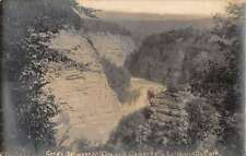 Letchworth Park New York Gorde Waterfalls Real Photo Antique Postcard K33074