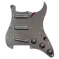 Loaded Pickguard Set w/ Dual Rail Humbucker Pickup for Fender Guitar Black