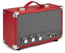 GPO Westwood 25 watt Speaker with Subwoofer, RCA input and Bluetooth – Red