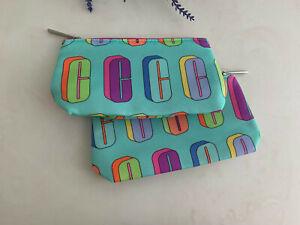2 Clinique Exclusive Logo patterned cosmetics bag  Mini Pouch -2019 GWP