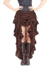 Renaissance Black Brown Victorian Rockabilly Steampunk Long Skirt