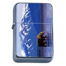 Scenic Alaska D1 Windproof Dual Flame Torch Lighter Wilderness Bear