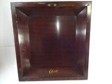 Vintage Antique Edison C250 Disc Phonograph Player Mahogany Wood Cabinet Lid
