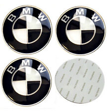 65mm Black BMW Wheel Stickers Badge Fits Alloy Centre Hub Curved Emblem UK