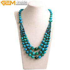 """8-12mm Stone Beads Jewelry Beaded Princess Necklace For Mom 19""""  With Gift Box"""