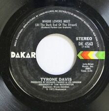 Soul 45 Tyrone Davis - Where Lovers Meet / It'S All In The Game On Dakar