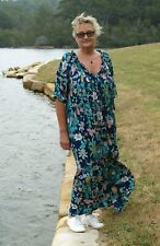 NWT Plus Size Paper Fig BOHO DRESS Teal Floral to fit Sizes 16,18,20,22,24