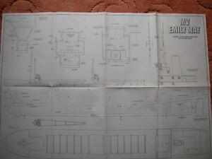 Model Boat Plans of the MV Emily May a semi scalemerchant ship model