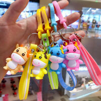 Cute Cow Doll Keychain Lovely Lovers Car Girl Bag Pendant Accessories Keyring