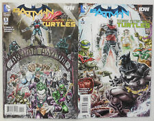 2015 BATMAN TEENAGE MUTANT NINJA TURTLES Comic # 5 6 ~ 1st PRINT~ DC IDW TMNT NM
