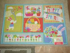 """HAPPY SPRING  20"""" X 30"""" Printed Accent Rug Multicolor NEW Blossoms And Blooms"""
