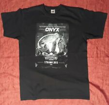 T-SHIRT ONYX AUDIODROME 17 05 2013 TORINO LARGE SOULFOOD UBIQUITY TRIBALTOWN