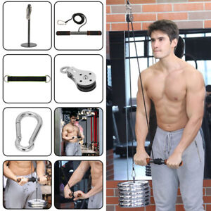 Arm Blaster Hand Strength Fitness Pulley Cable Machine System Biceps Triceps