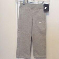 NWT Nike Little Boys Fleece Pants Size 4 Gray Toddler