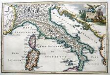 ITALIA ITALIA ANTIQUA da CELLARIO c1703 originale in rame Antico Incisa Mappa
