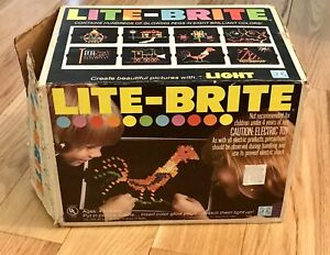 1978 Hasbro Lite Brite Toy, Works, with 5 Garfield Inserts, Instruction Booklet