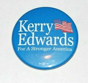 "2004 JOHN KERRY EDWARDS 2.25"" presidential campaign pin pinback button political"