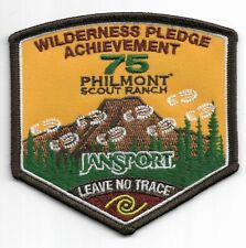 PHILMONT SCOUT RANCH * WILDERNESS PLEDGE ACHIEVEMENT * 75th ANNIVERSARY 2013