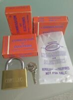 Rare Ancien 1 cadenas officiel commission élections of Philippines brass padlock