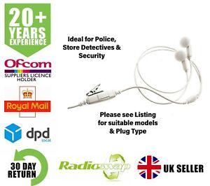 Midland G5XT G6XT MP3 Écouteur Style Blanc Double Écouteur Avec Micro & Ptt