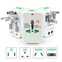 All-In-One VNC International Travel Power Charger Plug Universal Adapter White