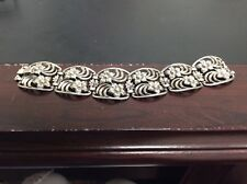 VINTAGE STERLING FLORAL PANEL ELET SIGNED WRE