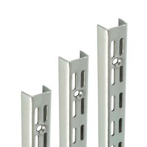 Polished CHROME Shelf UPRIGHTS for Shelving System Support Twin Slot Adjustable
