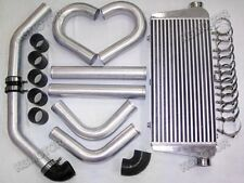 "600x300x76 Intercooler+2.5"" Piping Kit For Integra Black"