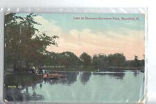"""Vintage Post Card - MANSFIELD OHIO - """"Lake Sherman-Heineman Park"""" , Used in 1911"""