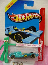Case A/B 2013 i Hot Wheels F1 RACER #129∞Met TURQUOISE Blue∞Racing Track Aces