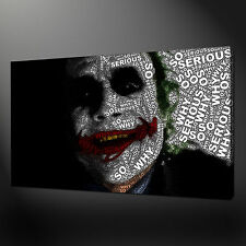 "JOKER DARK KNIGHT TYPOGRAPHY CANVAS WALL ART PICTURES PRINTS 20""x16"" FREE UK P&P"