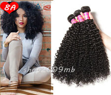 8A Brazilian Kinky Curly Virgin Human Hair Weave Bundles Extensions Weft 200g