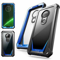 For Moto G7 Plus / Moto G7 Shockproof Case,Anti-Scratch Protector Cover Blue