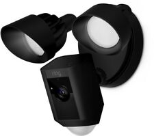 Ring Outdoor Wi-Fi Cam with Motion Activated Camera and Floodlight Black