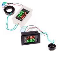 Digital Ammeter Voltmeter LCD Panel Amp Volt Meter AC 100A 300V 110V 220V