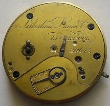 Litherland Davies Fusee Movement Good Balance 1816-1877 Movimient Fusee 40.5 mm