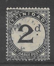 Antique Trinidad 1885 2d black postage due used